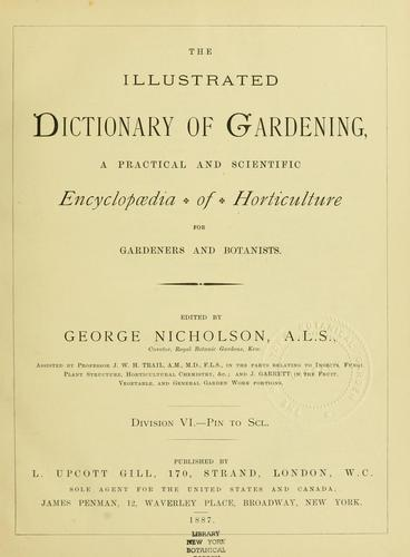 The Illustrated dictionary of gardening by