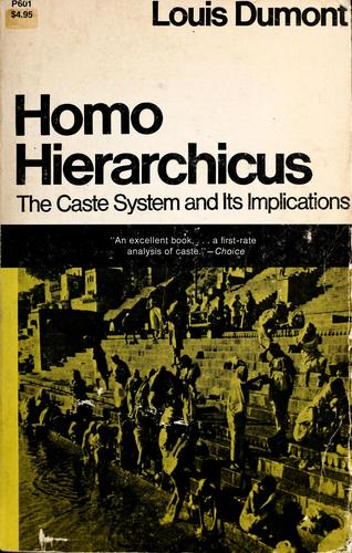 Homo hierarchicus by Louis Dumont