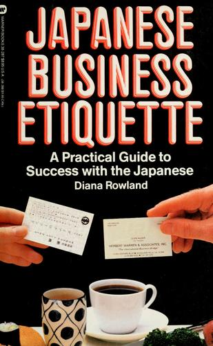 Japanese business etiquette by Diana Rowland