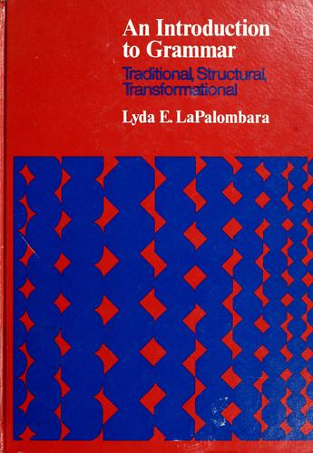 An introduction to grammar by Lyda E. LaPalombara