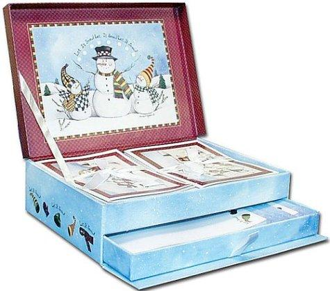 Let It Snow Stationery Keepsake Box by Laurie Korsgaden