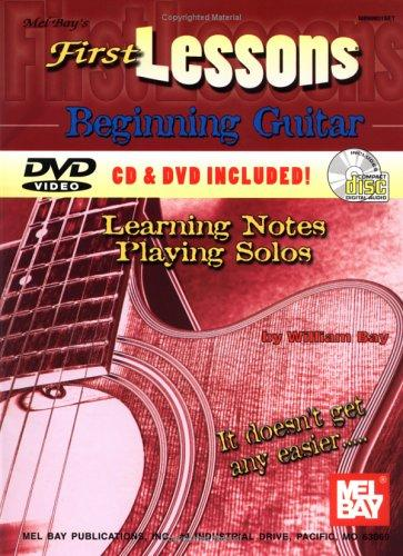 First Lessons Beginning Guitar (Mbgu) by William Bay